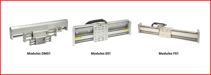 TRANSTECHNIK modules à moteurs intégrés LinMot DM01, E01 et F01